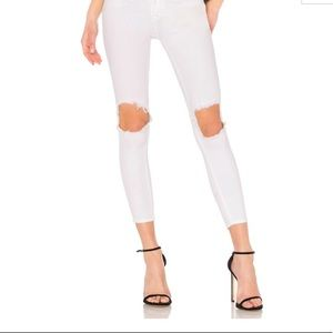 Free People High Rise Busted Skinny Jeans. New
